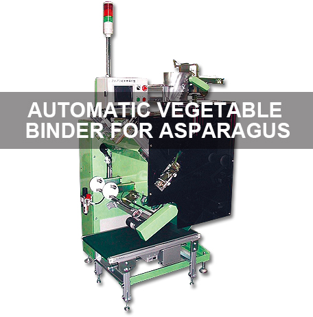 Automatic vegetable binder for asparagus